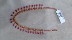 Jewellery Gold Ruby Necklace, Gold Necklace Simple, Gold Jewelry Simple, Gold Jewellery Design, Bead Jewellery, Gold Earrings Designs, Beaded Jewelry, Emerald Jewelry, Jewelry Patterns