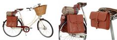 Radley leather pannier collection on Pashley Sonnet bicycle