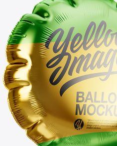 Metallic Round Foil Balloon Mockup