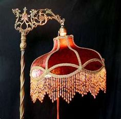beautiful Victorian lamp shade-I need to learn how to make these.