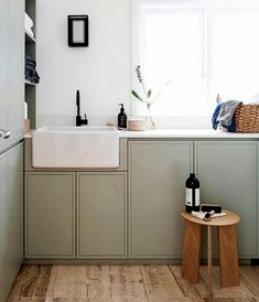 25 new ideas for farmhouse laundry room paint Modern Kitchen Cabinets, Kitchen Interior, Room Interior, Kitchen Decor, Kitchen Grey, Interior Painting, Kitchen Paint, Rustic Kitchen, Kitchen Ideas