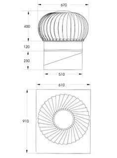 turbine roof ventilators dimension - Google Search
