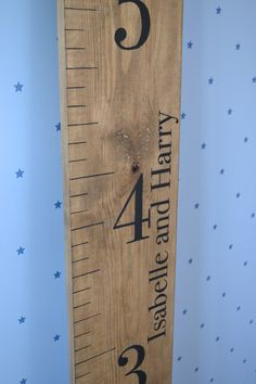 Personalised wooden height chart for children