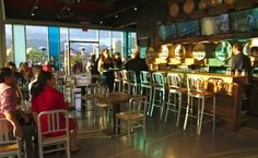 Vancouver's Tap & Barrel, a busting pub with dazzling patio, in the Olympic Village on False Creek's South Shore proves quality keg wines are here to stay Olympic Village, Craft Beer, Wines, Vancouver, Barrel, Design Inspiration, Restaurants, Barrel Roll, Barrels