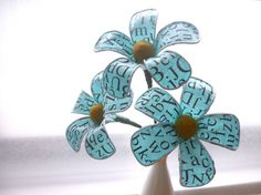 Fabric and wire flowers