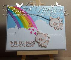 Made by Femke Niessen: Hog heaven. #MFTStamps  MFT stamps: Hog Heaven. MFT dienamics: stitched cloud edges, end of the rainbow, surf and turf, tag builder blueprints 5, blueprints 13.