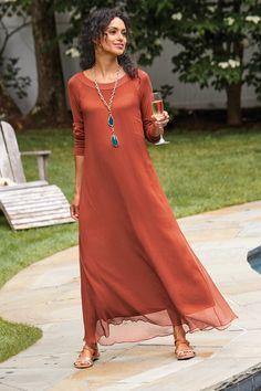 Artemis Dress - Flowy Maxi Dress | Soft Surroundings Ibiza Dress, Next Dresses, Summer Dresses, Jersey Knit Dress, Infinity Dress, Pretty Outfits, Pretty Clothes, Soft Surroundings, Dress Outfits