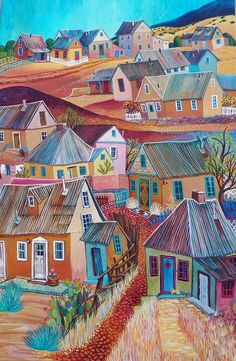 """Amarillo Road"" by Sally Bartos, New Mexico artist"