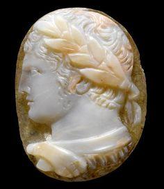 A Roman sardonyx cameo of Caracalla Circa A. Ancient Rome, Ancient Art, Ancient History, Classical Mythology, Greek Mythology, Roman Gods, Roman Jewelry, Cameo Jewelry, Jewellery