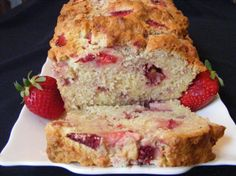 Strawberry Cream Cheese Bread perfect as muffins with cream cheese frosting! Just Desserts, Delicious Desserts, Dessert Recipes, Yummy Food, Muffins, Cream Cheese Bread, Fresh Strawberry Recipes, Cupcakes, Strawberries And Cream