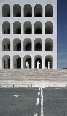 Palazzo della Civilta Italiana,  Giovanni Guerrini, Ernesto Bruno La Padula i Mario Romano.