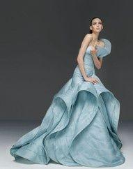 Weddings   50 Shades of Blue? - Versace Couture - #weddings #designer #bridal #blue