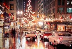 Christmas, Kansas City, Missouri - I remember my dad driving us downtown to see the lights. It was magical.