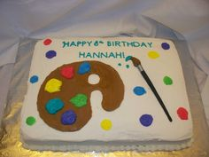 Hannah's Artist Cake 2011