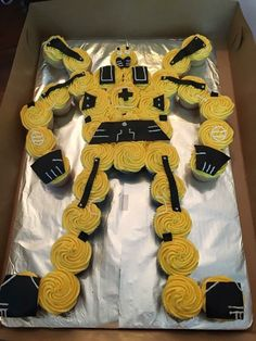 Rescue bots bumblebee cupcakes