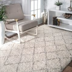 Shop for nuLOOM Soft and Plush Moroccan Trellis Natural Shag Rug (8'6 x 11'6). Get free shipping at Overstock.com - Your Online Home Decor Outlet Store! Get 5% in rewards with Club O! - 17605175