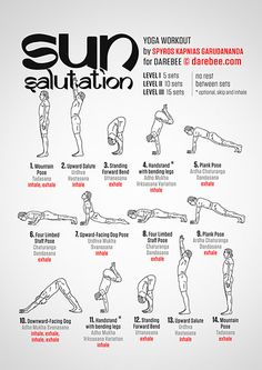 Salutation is one of the sequences of yoga postures. We can find different types of greetings in the sun depending on the type of yoga we are doing. So, if we practice yoga power, the sun salutation will be more dynamic than other styles of hatha yoga. 30 Day Yoga, Darebee, Martial Arts Workout, Yoga Posen, Gewichtsverlust Motivation, Morning Yoga, Yoga Tips, Yoga Lifestyle, Yoga Routine