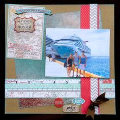 12x12 Travel Themed Layout.  Quick Quotes Baggage Claim Paperline