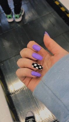 Purple Acrylic Nails, Acrylic Nails Coffin Short, Square Acrylic Nails, Summer Acrylic Nails, Best Acrylic Nails, Purple Nails, Summer Nails, Winter Nails, Coffin Nails