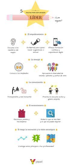 Tipo de contenido: Infografía para el blog. Idea creativa & Composición: Irene Martín. Título del post: ¿Cómo ser un buen líder para tu equipo? Post: Ana Leñador. Fecha: 02.03.2015 Enlace: http://blog.yepali.com/como-ser-buen-lider-equipo/