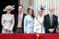 Lady Gabriella Windsor Lord Frederick Windsor Lady Frederick Windsor Princess Michael of Kent and Prince Michael of Kent stand on the balcony of...