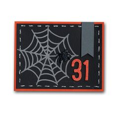 Halloween Vellum Spider Web Card