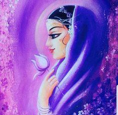Radha by shyamaramaniart Krishna Drawing, Krishna Art, Radhe Krishna, Indian Gods, Indian Art, Poster Color Painting, Poster Colour, Painting Art, Indian Drawing