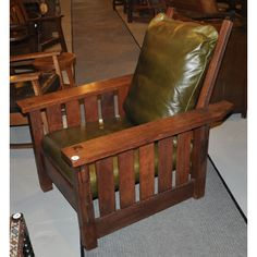 SUPERB Antique GUSTAV STICKLEY Morris Chair ff605_1 | Home | Pinterest | Craftsman Gustav stickley and Craftsman furniture & SUPERB Antique GUSTAV STICKLEY Morris Chair ff605_1 | Home ...