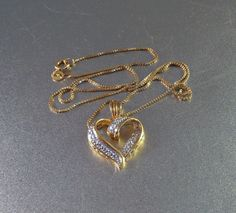 Sterling Heart Pendant Necklace Gold Vermeil by LynnHislopJewels