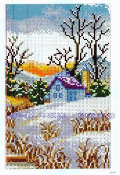 Boa noite gente *-* Por que bordar é magnifico, libertador de imaginação e claro que paisagens em ponto cruz é o melhor, bordar um quadro ...