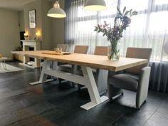 Tafels op maat portfolio   Leven in Stijl Meubelmakerij Office Desk, Dining Bench, Furniture, Home Decor, Table, Desk Office, Decoration Home, Desk, Table Bench