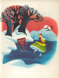 Once Upon A Wintertime: Danger Thin Ice illustrator Mary Blair