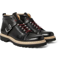 Infused with a casual edge but still slick, <a href='http://www.mrporter.com/mens/Designers/Heschung'>Heschung</a>'s 'Richmond' boots are a polished take on classic hiking styles. This pair has been expertly crafted in France from full-grain leather and has padded collars for a comfortable fit. The adjustable buckled straps add stability, while the double-stitched welts and Vibram® rubber lug soles make them incredibly durable.