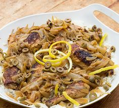 Senegalese Chicken Yassa: so delicious. The chicken is browned and then braised with caramelized onions and sweet/spicy lemon sauce.