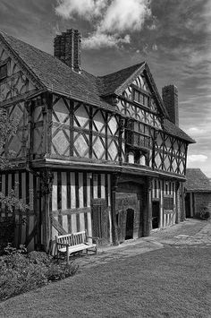 Stokesay Castle is quite simply the finest and best preserved fortified medieval manor house in England. Set in peaceful countryside near the Welsh border, the castle, timber-framed gatehouse (shown here) and parish church form an unforgettably picturesque group. The Gatehouse at Stokesay Castle was built in 1640-1. The original gatehouse was probably of stone, however, nothing now survives and the current mid-17th century building is timber-framed with elaborately carved brackets and…