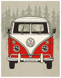 "A VW Bus named ""Wanderlust""...."