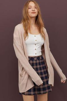 Knit Cardigan - Powder pink melange - Ladies   H&M US 1