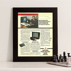 New to RetroPapers on Etsy: Vintage Atari Computers Geek Ad   1980s Nerdy Retro Technology & Gaming Sign   80s Discover What Atari Can Do   For Office Advertisement (6.99 USD)