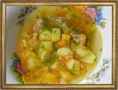 Суп с белой фасолью.