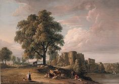 Paul Sandby, England (1731-1809) • Chepstow Castle • Gouache and wash • Purchased with the assistance of a special grant from the Government of Victoria 1971 • 1142 #PaulSandy #watercolour #painting South Wales, Watercolour Painting, Asian Art, Gouache, Contemporary Art, Castle, England, Victoria, Gallery