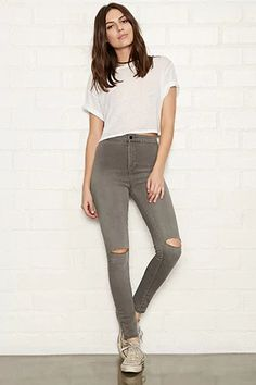 High-Rise Super Skinny Jeans #thelatest