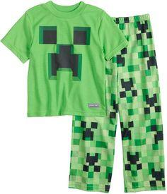 Boys 6-12 Minecraft Creeper 2-Piece Pajama Set Pajama Bottoms 19ace6721