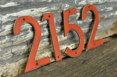 Distressed Aluminum House Numbers (15.00 USD) by DropMetal