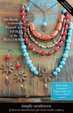 Earthy metals, mountains of turquoise jasper and subtle, yet colorful, accents!