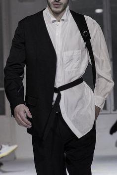 """monsieurcouture: """" Yohji Yamamoto S/S 2015 Menswear Paris Fashion Week """" Fashion Week, Look Fashion, Fashion Details, High Fashion, Fashion Outfits, Womens Fashion, Fashion Design, Fashion Trends, Classy Fashion"""