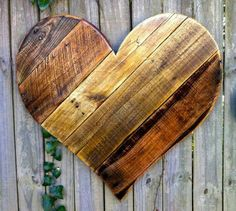 Recycled wood heart