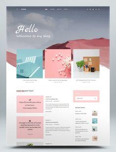 Creative Blog Website HTML Template Html Website Templates, Creative, Blog, Blogging