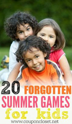 We have 20 forgotten summer games for kids that are fun. Choose from fun outdoor games for kids while others are indoor games for kids for those rainy days.These summer games are amazing for kids! Indoor Games For Kids, Fun Outdoor Games, Free Games For Kids, Kid Games, Outdoor Activities, Backyard Games, Party Outdoor, Lawn Games, Group Games
