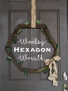 Hexagon Wreath Grapevine Wreath, Grape Vines, Murals, Wreaths, Projects, Diy, Painting, Home Decor, Log Projects