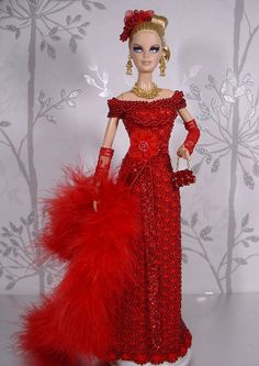 BARBIE DOLL ROBE DE GALA RED CARPET EVENING GOWN # 03202 | eBay!